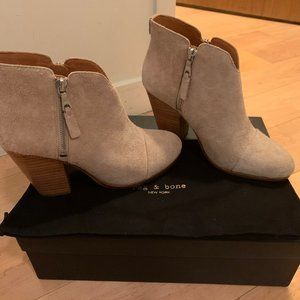 Rag & Bone Margot Suede Booties Size 37.5, New!
